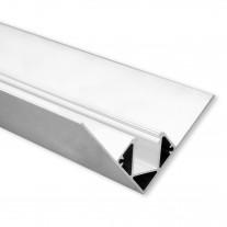 LED Aluminium Trockenbauprofil Inneneck T6 Heze 2 Meter inkl. Abdeckung Opal/Klar
