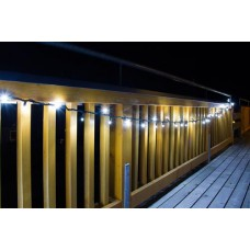 100 LED Lichterkette inkl. 10 FLASH LED 5 meter Weiss 5 Watt koppelbar