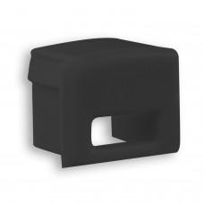 P22 Ran Endkappe mit Kabelausgang Schwarz