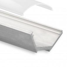 LED Aluminium Eckprofil P25 Fulu f. LED Streifen inkl. Abdeckung Opal
