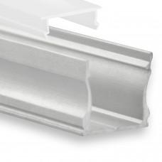 P22 Ran LED Aluminium Profil inkl. Abdeckung Opal Profilbündig