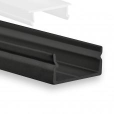 P21 Naos LED Aluminium Profil Schwarz inkl. Abdeckung Opal Profilbündig
