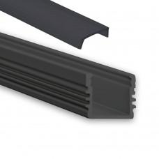 PL2 Arrakis mit schwarzer Abdeckung 2 Meter Schwarz Pulverbeschichtigt