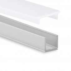 P18 Celaeno schmales Aluminium Profil inkl. Abdeckung Opal