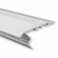 P2 Beid LED Aluminium Treppenprofil inkl. Abdeckung Opal