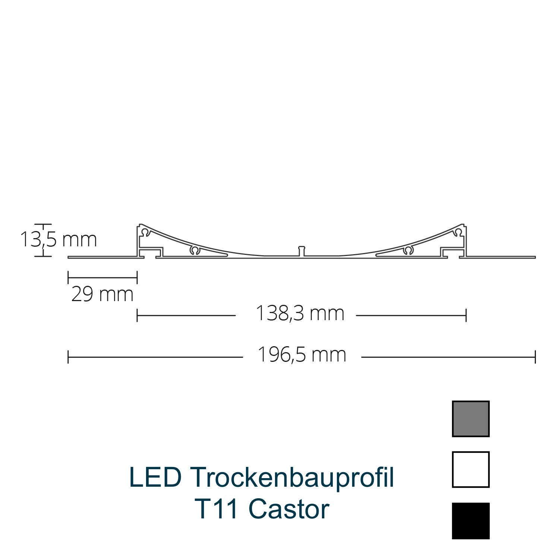 T11 LED-Trockenbauprofil