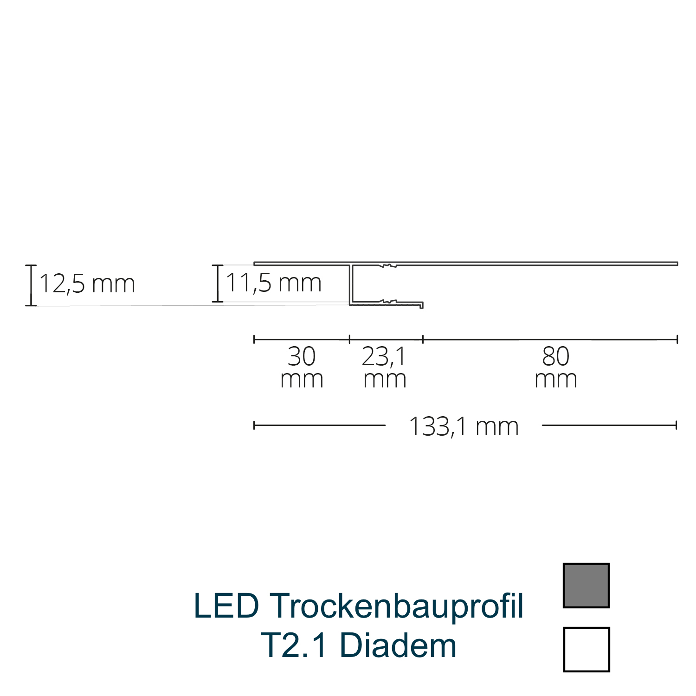 T2.1 LED-Trockenbauprofil