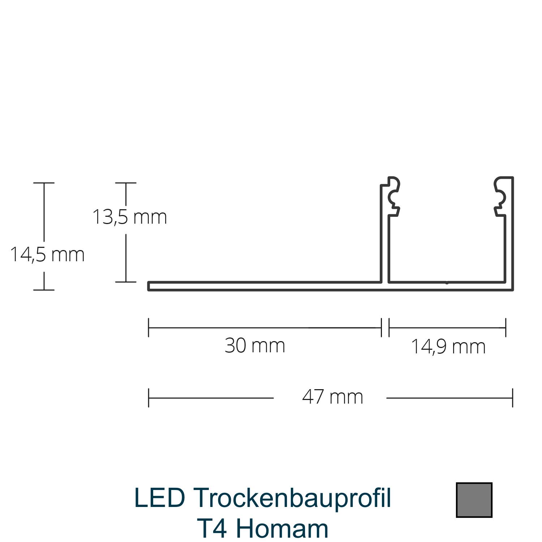 T4 LED-Trockenbauprofil