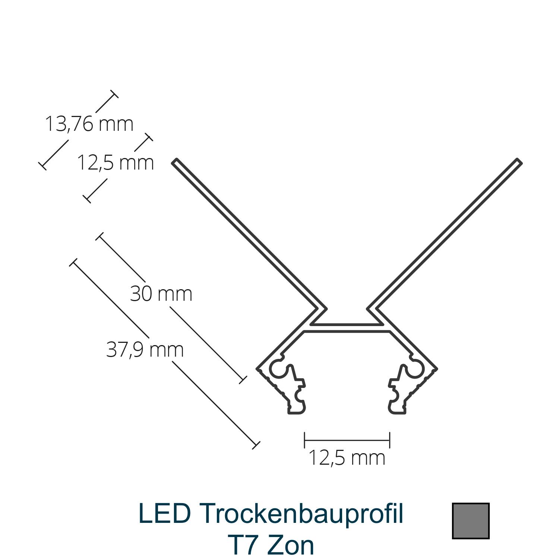 T7 LED-Trockenbauprofil
